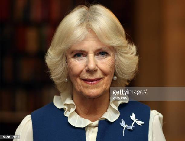 Camilla Duchess of Cornwall attends a reception to launch The Great Get Together at Clarence House on February 22 2017 in London England The Great...