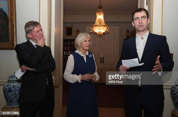 Camilla Duchess of Cornwall attends a reception to launch The Great Get Together at Clarence House alongside Peter Stewart Executive Director of the...