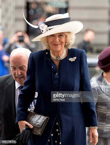 Camilla Duchess of Cornwall attends a service at St MartinintheFields for the VC GC Association on May 10 2016 in London England