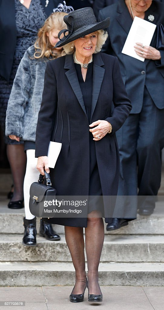 <a gi-track='captionPersonalityLinkClicked' href=/galleries/search?phrase=Camilla+-+Hertogin+van+Cornwall&family=editorial&specificpeople=158157 ng-click='$event.stopPropagation()'>Camilla</a>, Duchess of Cornwall attends a Service of Thanksgiving for the life of Geoffrey Howe (Lord Howe of Aberavon) at St Margaret's Church, Westminster Abbey on May 3, 2016 in London, England. Conservative politician Geoffrey Howe who served as Chancellor of the Exchequer and Foreign Secretary during the 1980's died aged 88 on October 9, 2015.