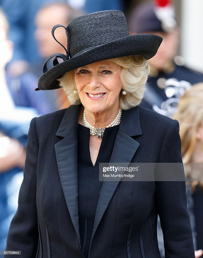 <a gi-track='captionPersonalityLinkClicked' href=/galleries/search?phrase=Camilla+-+Duchesse+de+Cornouailles&family=editorial&specificpeople=158157 ng-click='$event.stopPropagation()'>Camilla</a>, Duchess of Cornwall attends a Service of Thanksgiving for the life of Geoffrey Howe (Lord Howe of Aberavon) at St Margaret's Church, Westminster Abbey on May 3, 2016 in London, England. Conservative politician Geoffrey Howe who served as Chancellor of the Exchequer and Foreign Secretary during the 1980's died aged 88 on October 9, 2015.