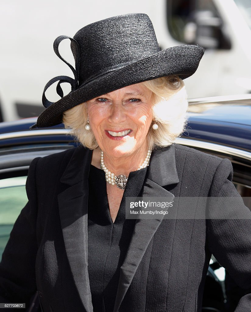 <a gi-track='captionPersonalityLinkClicked' href=/galleries/search?phrase=Camilla+-+Duchessa+di+Cornovaglia&family=editorial&specificpeople=158157 ng-click='$event.stopPropagation()'>Camilla</a>, Duchess of Cornwall attends a Service of Thanksgiving for the life of Geoffrey Howe (Lord Howe of Aberavon) at St Margaret's Church, Westminster Abbey on May 3, 2016 in London, England. Conservative politician Geoffrey Howe who served as Chancellor of the Exchequer and Foreign Secretary during the 1980's died aged 88 on October 9, 2015.