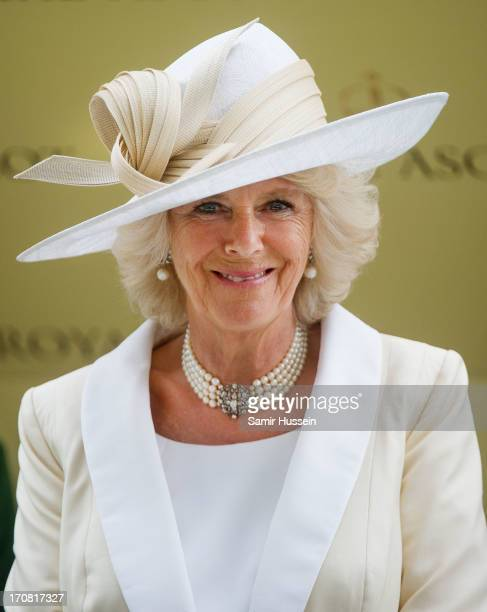 Camilla Duchess of Cornwall attends day 1 of Royal Ascot at Ascot Racecourse on June 18 2013 in Ascot England