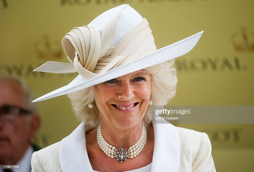 Camilla Duchess of Cornwall attends day 1 of Royal Ascot at Ascot Racecourse on June 18, 2013 in Ascot, England.