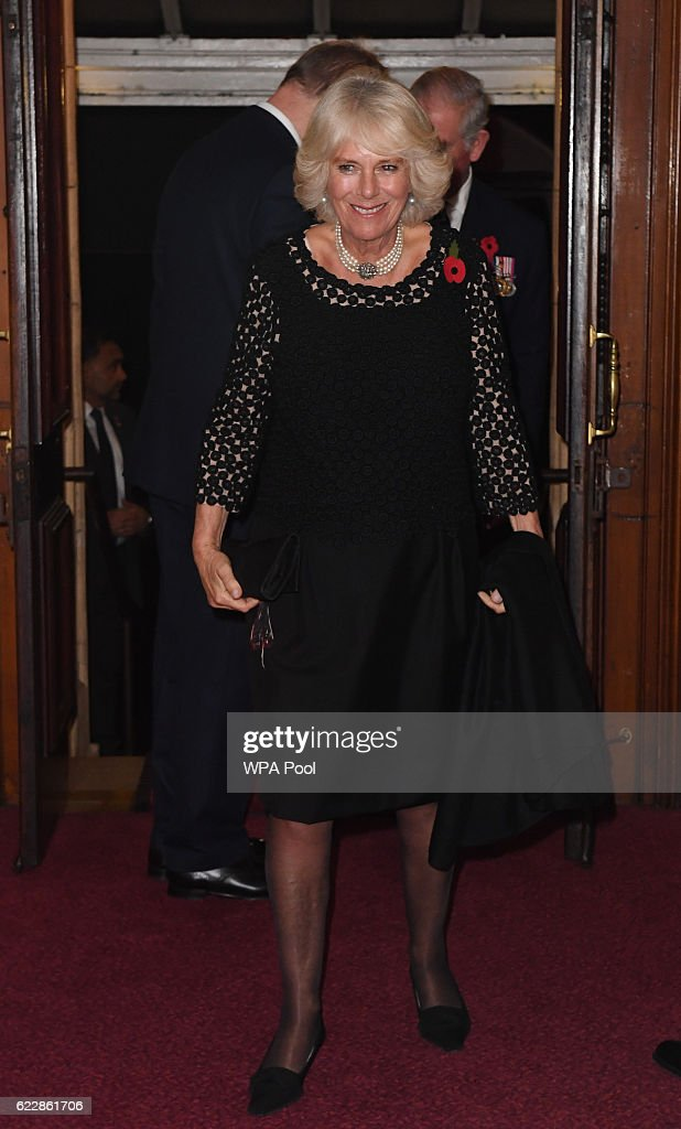 Camilla, Duchess of Cornwall attends the annual Royal Festival of Remembrance at the Royal Albert Hall on November 12, 2016 in London, England.