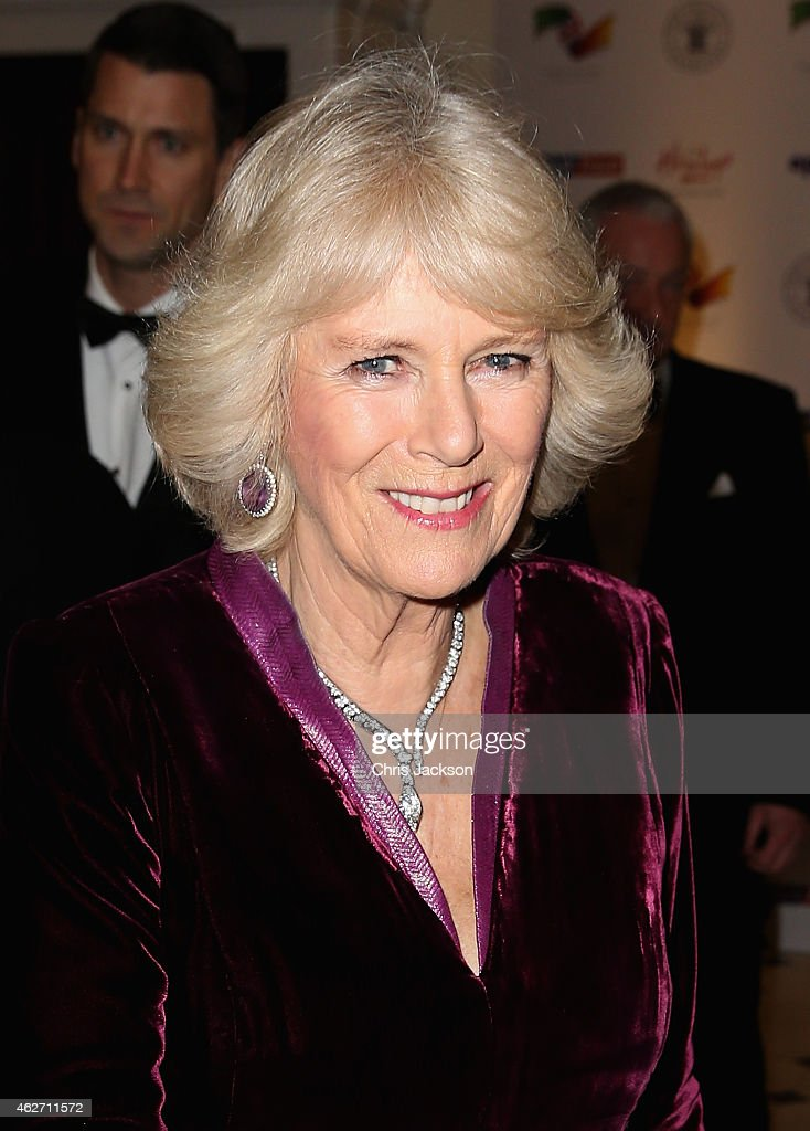 Camilla Duchess of Cornwall attends the British Asian Trust dinner at Banqueting House on February 3 2015 in London England