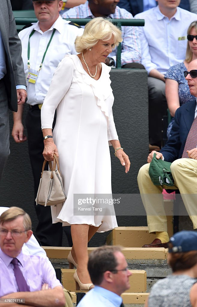 <a gi-track='captionPersonalityLinkClicked' href=/galleries/search?phrase=Camilla+-+Duchess+of+Cornwall&family=editorial&specificpeople=158157 ng-click='$event.stopPropagation()'>Camilla</a>, Duchess of Cornwall attends the <a gi-track='captionPersonalityLinkClicked' href=/galleries/search?phrase=Christina+McHale&family=editorial&specificpeople=5671165 ng-click='$event.stopPropagation()'>Christina McHale</a> v <a gi-track='captionPersonalityLinkClicked' href=/galleries/search?phrase=Sabine+Lisicki&family=editorial&specificpeople=645395 ng-click='$event.stopPropagation()'>Sabine Lisicki</a> match on day four of the Wimbledon Tennis Championships at Wimbledon on July 2, 2015 in London, England.