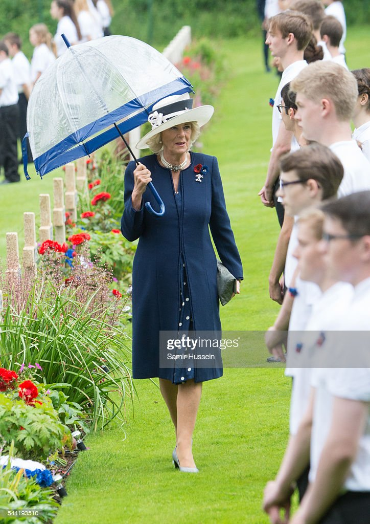 <a gi-track='captionPersonalityLinkClicked' href=/galleries/search?phrase=Camilla+-+Duchess+of+Cornwall&family=editorial&specificpeople=158157 ng-click='$event.stopPropagation()'>Camilla</a>, Duchess of Cornwall attends the commemoration of the Battle of the Somme at the Commonwealth War Graves Commission Thiepval Memorial on June 30, 2016 in Thiepval, France.