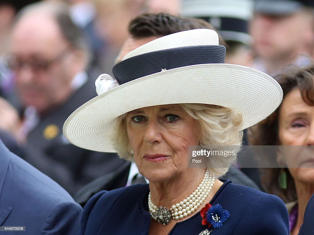<a gi-track='captionPersonalityLinkClicked' href=/galleries/search?phrase=Camilla+-+Duchess+of+Cornwall&family=editorial&specificpeople=158157 ng-click='$event.stopPropagation()'>Camilla</a>, Duchess of Cornwall attends the Commemoration of the Centenary of the Battle of the Somme at the Commonwealth War Graves Commission Thiepval Memorial on July 1, 2016 in Thiepval, France. The event is part of the Commemoration of the Centenary of the Battle of the Somme at the Commonwealth War Graves Commission Thiepval Memorial in Thiepval, France, where 70,000 British and Commonwealth soldiers with no known grave are commemorated.