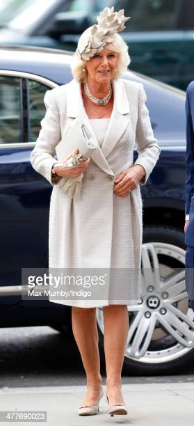 Camilla Duchess of Cornwall attends the Commonwealth Observance Service at Westminster Abbey on March 10 2014 in London England