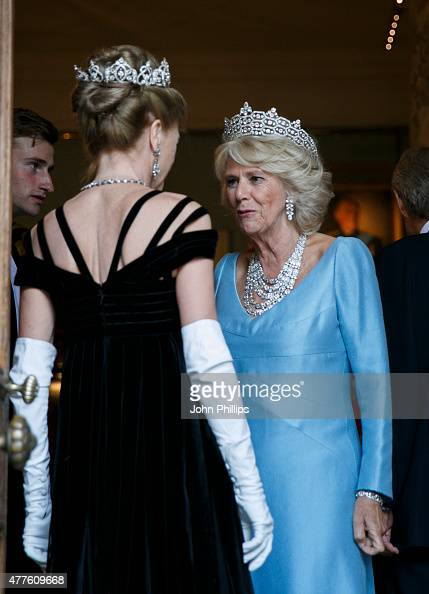 Camilla Duchess Of Cornwall attends The Duke of Wellington's Waterloo banquet at Apsley House on June 18 2015 in London England