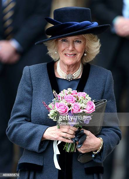 Camilla Duchess of Cornwall attends the Observance for Commonwealth Day Service at Westminster Abbey on March 9 2015 in London England