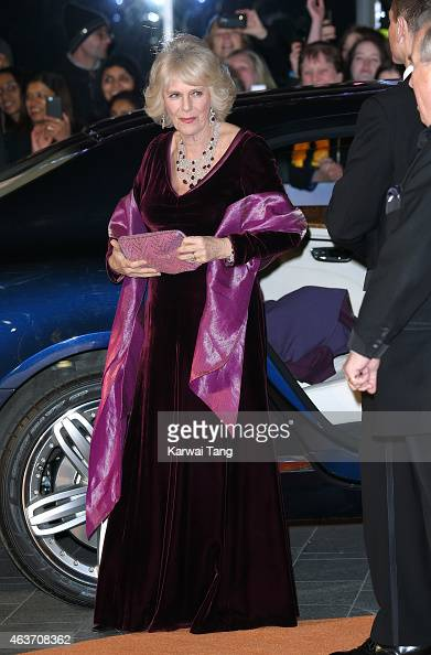 Camilla Duchess of Cornwall attends The Royal Film Performance and World Premiere of 'The Second Best Exotic Marigold Hotel' at Odeon Leicester...
