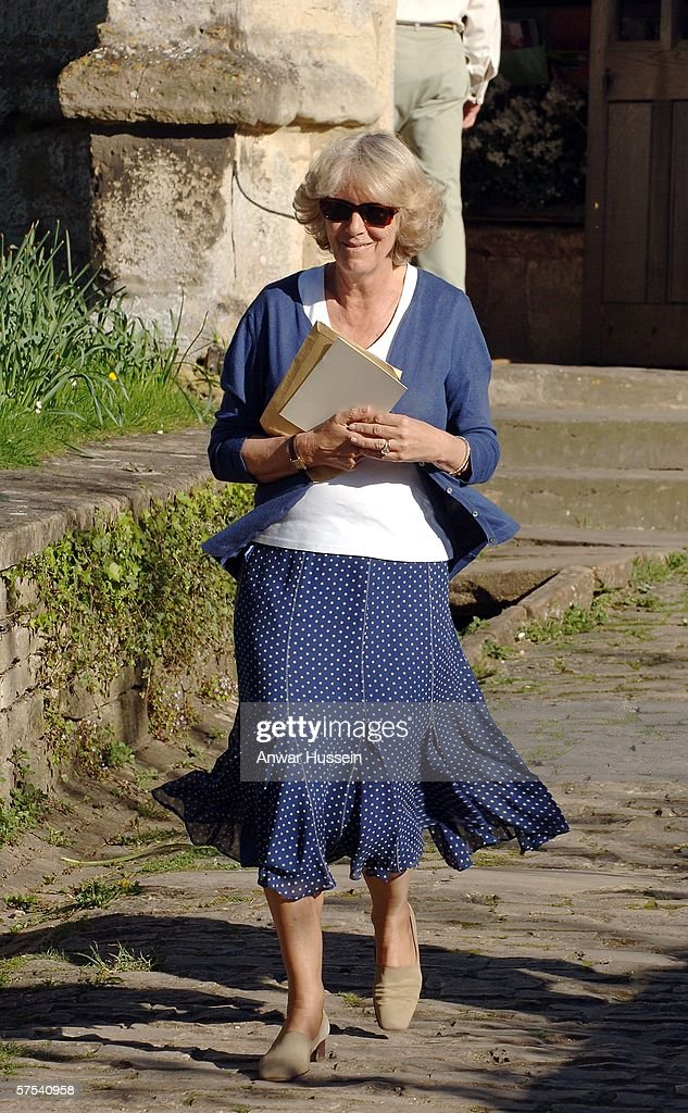 Camilla Ss Of Cornwall Attends The Wedding Rehearsal Laura Parker Bowles To Harry