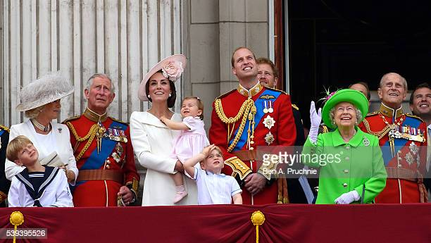 Camilla Duchess of Cornwall Charles Prince of Wales Catherine Duchess of Cambridge Princess Charlotte of Cambridge Prince George of Cambridge Prince...