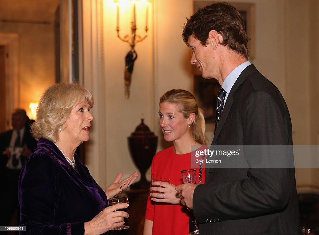 <a gi-track='captionPersonalityLinkClicked' href=/galleries/search?phrase=Camilla+-+Duchess+of+Cornwall&family=editorial&specificpeople=158157 ng-click='$event.stopPropagation()'>Camilla</a>, Duchess of Cornwall chats to Laura Bechtolsheimer and <a gi-track='captionPersonalityLinkClicked' href=/galleries/search?phrase=William+Fox-Pitt&family=editorial&specificpeople=647065 ng-click='$event.stopPropagation()'>William Fox-Pitt</a> during a reception hosted by the Duchess of Cornwall for the British Equestrian Teams from the London 2012 Olympics And Paralympics at Clarence House on January 22, 2013 in London, England.