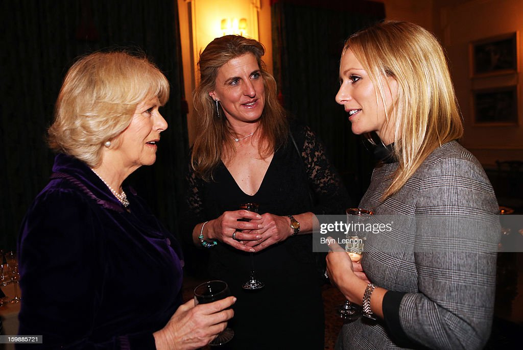 <a gi-track='captionPersonalityLinkClicked' href=/galleries/search?phrase=Camilla+-+Duchess+of+Cornwall&family=editorial&specificpeople=158157 ng-click='$event.stopPropagation()'>Camilla</a>, Duchess of Cornwall chats to Olympic Eventer <a gi-track='captionPersonalityLinkClicked' href=/galleries/search?phrase=Zara+Phillips&family=editorial&specificpeople=161323 ng-click='$event.stopPropagation()'>Zara Phillips</a> during a reception hosted by the Duchess of Cornwall for the British Equestrian Teams from the London 2012 Olympics And Paralympics at Clarence House on January 22, 2013 in London, England.