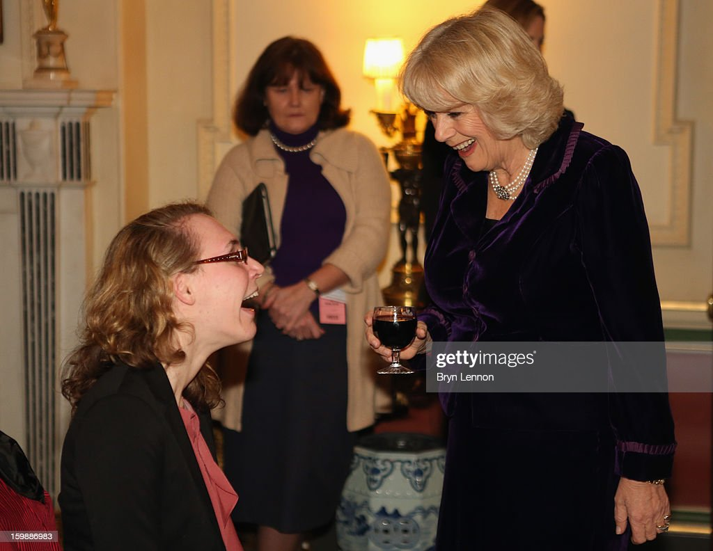 <a gi-track='captionPersonalityLinkClicked' href=/galleries/search?phrase=Camilla+-+Duchess+of+Cornwall&family=editorial&specificpeople=158157 ng-click='$event.stopPropagation()'>Camilla</a>, Duchess of Cornwall chats to Para-Equestrian Dressage rider Sophie Christiansen during a reception hosted by the Duchess of Cornwall for the British Equestrian Teams from the London 2012 Olympics And Paralympics at Clarence House on January 22, 2013 in London, England.