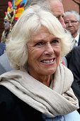 Camilla Duchess of Cornwall cries with laughter during a visit to Real del Monte on the 'Day of the Dead on November 2 2014 in HidalgoMexico The...