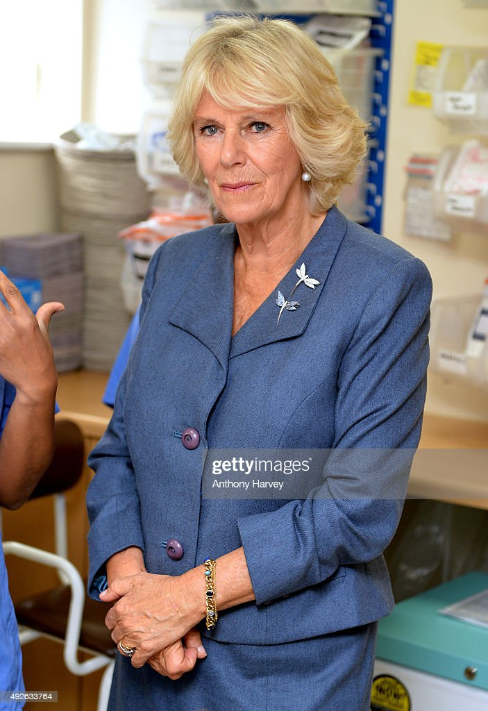 <a gi-track='captionPersonalityLinkClicked' href=/galleries/search?phrase=Camilla+-+Duchess+of+Cornwall&family=editorial&specificpeople=158157 ng-click='$event.stopPropagation()'>Camilla</a>, Duchess of Cornwall during her visits to the Haven, Whitechapel to Highlight the issues of Rape And Sexual Abuse on October 14, 2015 in London, England.
