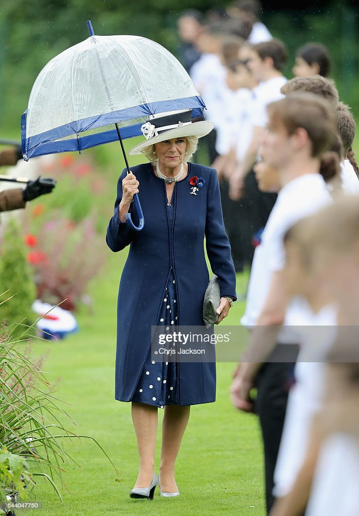 <a gi-track='captionPersonalityLinkClicked' href=/galleries/search?phrase=Camilla+-+Duchess+of+Cornwall&family=editorial&specificpeople=158157 ng-click='$event.stopPropagation()'>Camilla</a>, Duchess of Cornwall during Somme Centenary Commemorations on July 1, 2016 in Thiepval, France. Today marks exactly 100 years since the beginning of the battle of the Somme.