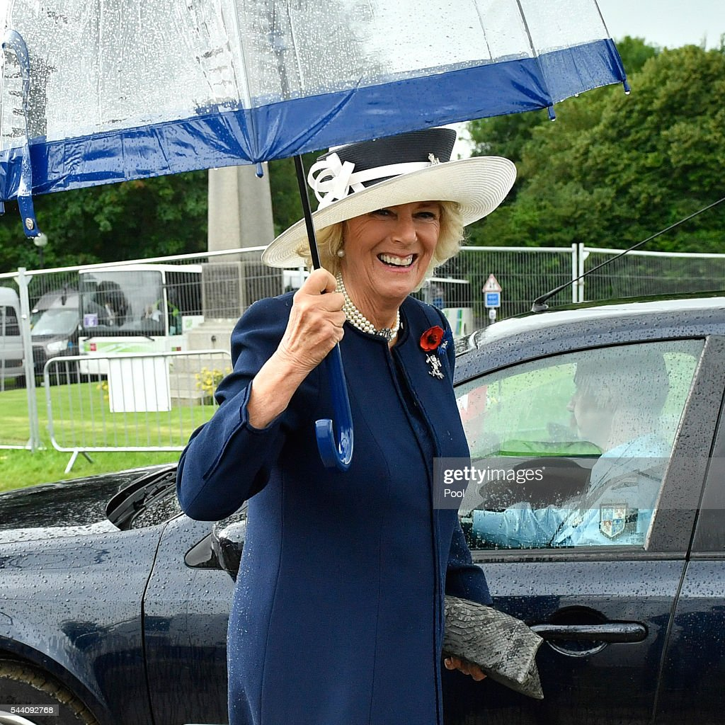Camilla, Duchess of Cornwall during the Commemoration of the Centenary of the Battle of the Somme at the Commonwealth War Graves Commission Thiepval Memorial on July 1, 2016 in Thiepval, France. The event is part of the Commemoration of the Centenary of the Battle of the Somme at the Commonwealth War Graves Commission Thiepval Memorial in Thiepval, France, where 70,000 British and Commonwealth soldiers with no known grave are commemorated.