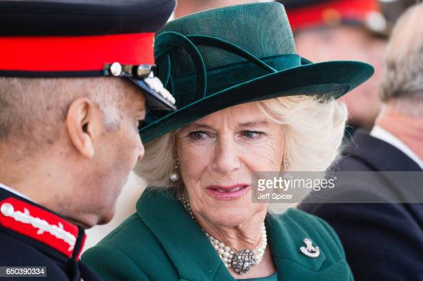 Camilla Duchess of Cornwall during the dedication and unveiling of The Iraq and Afghanistan memorial on March 9 2017 in London England