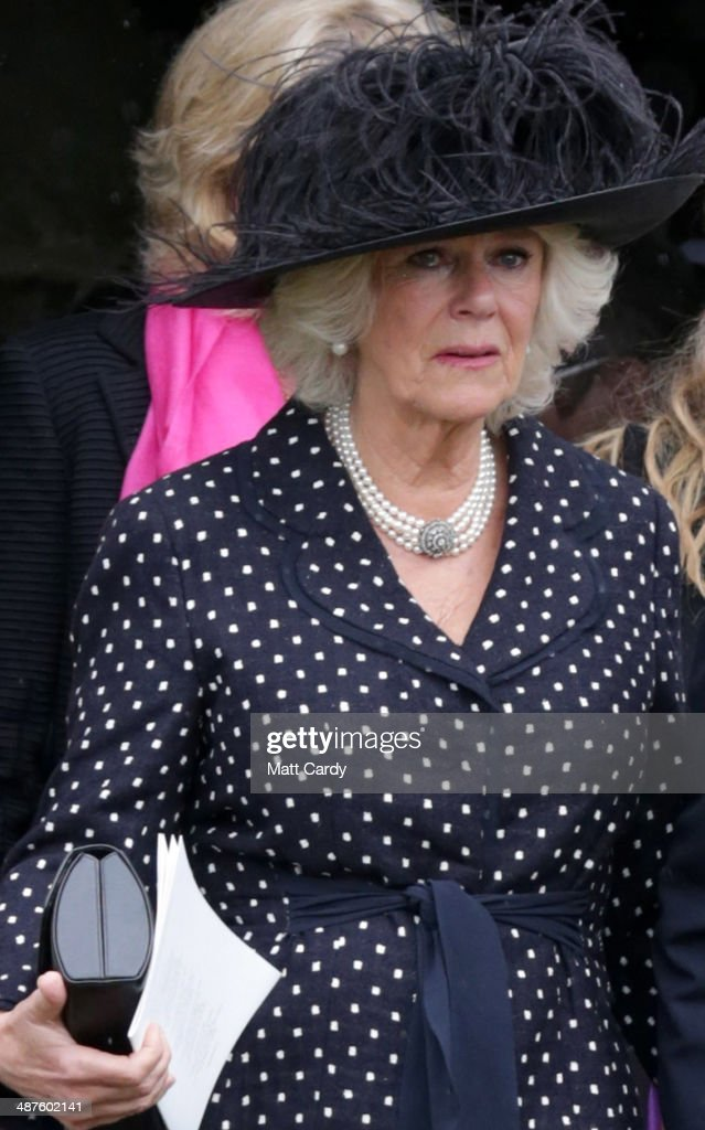 <a gi-track='captionPersonalityLinkClicked' href=/galleries/search?phrase=Camilla+-+Duchess+of+Cornwall&family=editorial&specificpeople=158157 ng-click='$event.stopPropagation()'>Camilla</a>, Duchess of Cornwall follows the coffin of Mark Shand as it leaves Holy Trinity Church in Stourpaine on May 1, 2014 near Blandford Forum in Dorset, England. Conservationist and travel writer Mr Shand, who is the brother of <a gi-track='captionPersonalityLinkClicked' href=/galleries/search?phrase=Camilla+-+Duchess+of+Cornwall&family=editorial&specificpeople=158157 ng-click='$event.stopPropagation()'>Camilla</a>, Duchess of Cornwall, died unexpectedly last week after falling and hitting his head in New York.
