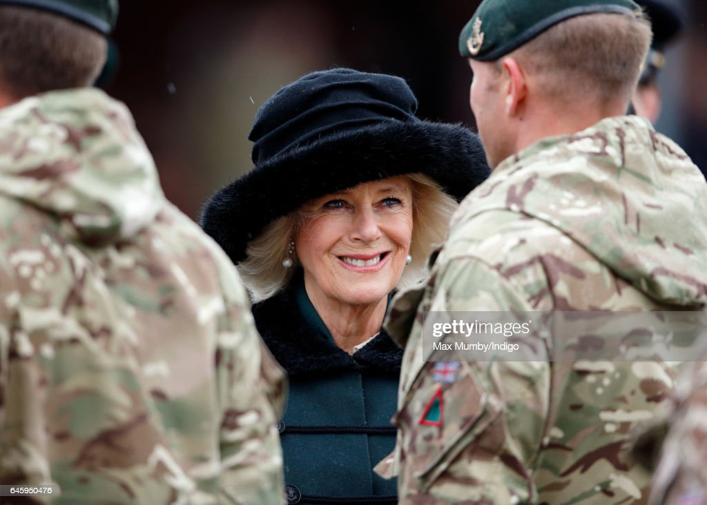 camilla-duchess-of-cornwall-inspects-soldiers-of-4th-battalion-the-picture-id645950476