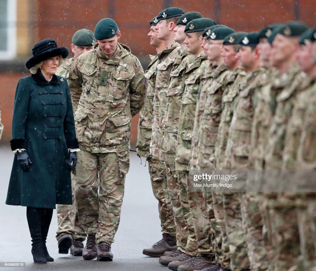 camilla-duchess-of-cornwall-inspects-soldiers-of-4th-battalion-the-picture-id645950516