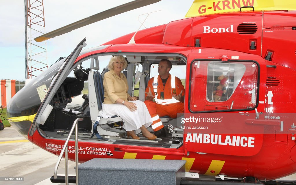 <a gi-track='captionPersonalityLinkClicked' href=/galleries/search?phrase=Camilla+-+Duchess+of+Cornwall&family=editorial&specificpeople=158157 ng-click='$event.stopPropagation()'>Camilla</a>, Duchess of Cornwall is given a briefing by lead paramedic <a gi-track='captionPersonalityLinkClicked' href=/galleries/search?phrase=Steve+Garvey&family=editorial&specificpeople=210829 ng-click='$event.stopPropagation()'>Steve Garvey</a> during a visit to the new Cornwall Air Ambulance facilities on July 4, 2012 in Newquay, England. Prince Charles, Prince of Wales and <a gi-track='captionPersonalityLinkClicked' href=/galleries/search?phrase=Camilla+-+Duchess+of+Cornwall&family=editorial&specificpeople=158157 ng-click='$event.stopPropagation()'>Camilla</a>, Duchess of Cornwall are on a three day trip to Cornwall and the Isles of Scilly. The Prince of Wales is celebrating 60 years as the Duke of Cornwall.