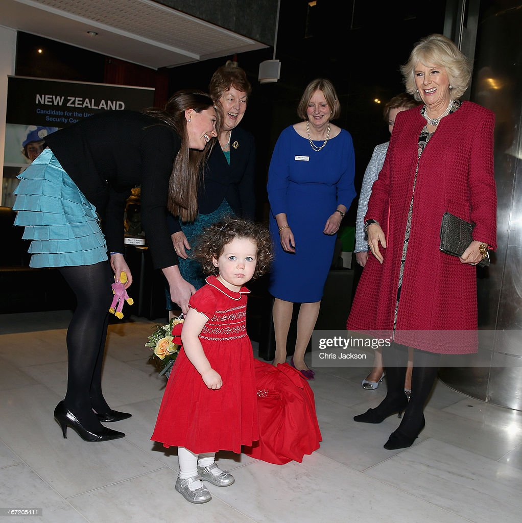 <a gi-track='captionPersonalityLinkClicked' href=/galleries/search?phrase=Camilla+-+Duchess+of+Cornwall&family=editorial&specificpeople=158157 ng-click='$event.stopPropagation()'>Camilla</a>, Duchess of Cornwall is presented with flowers by a young girl on Waitangi day at New Zealand House on February 6, 2014 in London, England. Waitangi Day commemorates the signing of a treaty between 500 Maori Chiefs and the British Crown in 1840.