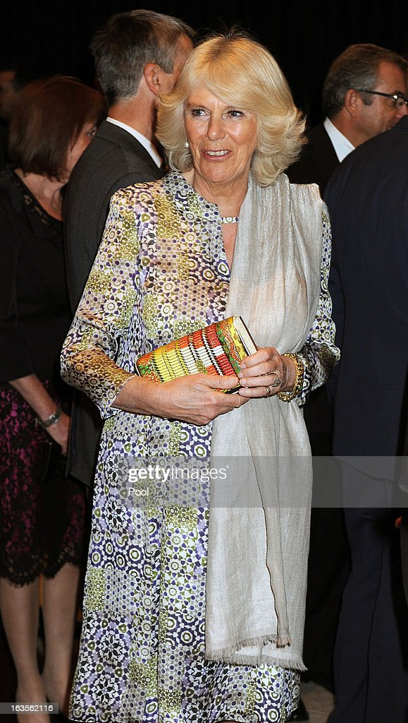 Camilla, Duchess of Cornwall is seen as she tours the Royal Automobile Museum on the second day of Charles and Camilla's visit to the country on March 12, 2013, in Amman, Jordan. The Royal couple are on the first leg of a tour of the Middle East taking in Qatar, Saudia Arabia and Oman.