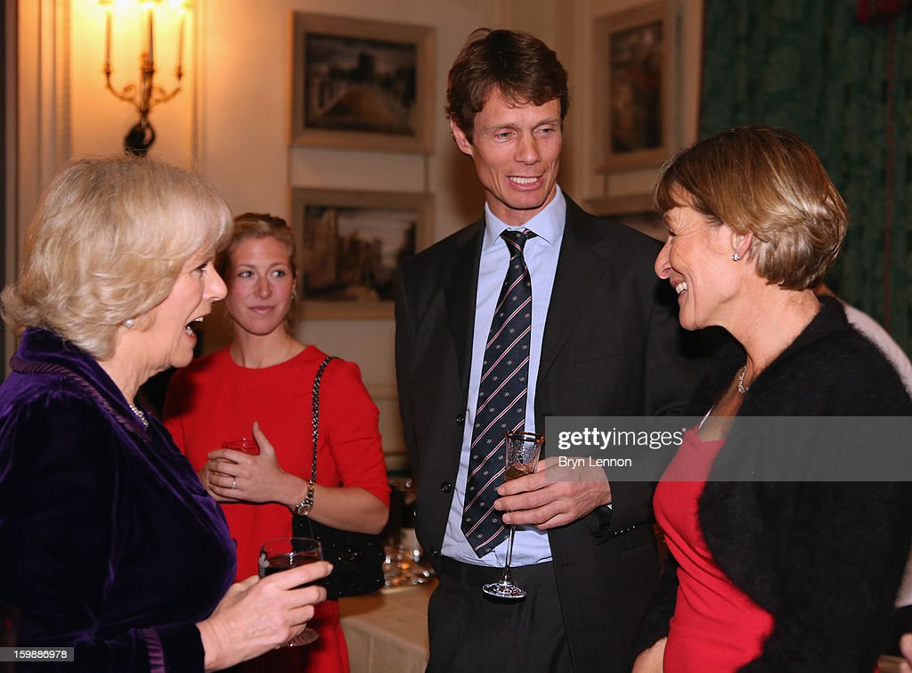 <a gi-track='captionPersonalityLinkClicked' href=/galleries/search?phrase=Camilla+-+Duchess+of+Cornwall&family=editorial&specificpeople=158157 ng-click='$event.stopPropagation()'>Camilla</a>, Duchess of Cornwall, Laura Bechtolsheimer, William Fox-Pitt and <a gi-track='captionPersonalityLinkClicked' href=/galleries/search?phrase=Mary+King&family=editorial&specificpeople=2183214 ng-click='$event.stopPropagation()'>Mary King</a> attend a reception hosted by the Duchess of Cornwall for the British Equestrian Teams from the London 2012 Olympics And Paralympics at Clarence House on January 22, 2013 in London, England.