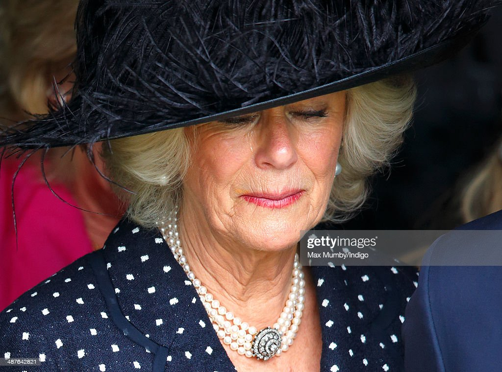 <a gi-track='captionPersonalityLinkClicked' href=/galleries/search?phrase=Camilla+-+Duchess+of+Cornwall&family=editorial&specificpeople=158157 ng-click='$event.stopPropagation()'>Camilla</a>, Duchess of Cornwall leaves Holy Trinity Church, Stourpaine after attending the funeral of her brother Mark Shand on May 1, 2014 near Blandford Forum in Dorset, England. Conservationist and travel writer Mark Shand, brother of <a gi-track='captionPersonalityLinkClicked' href=/galleries/search?phrase=Camilla+-+Duchess+of+Cornwall&family=editorial&specificpeople=158157 ng-click='$event.stopPropagation()'>Camilla</a>, Duchess of Cornwall, died unexpectedly last week after falling and hitting his head in New York.
