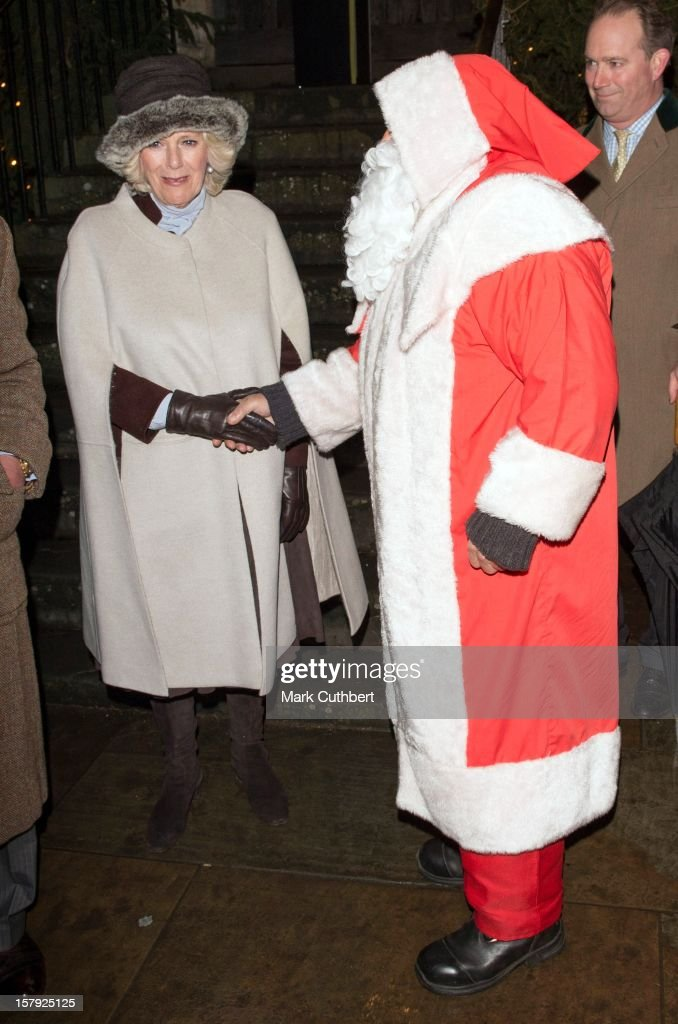 <a gi-track='captionPersonalityLinkClicked' href=/galleries/search?phrase=Camilla+-+Duchess+of+Cornwall&family=editorial&specificpeople=158157 ng-click='$event.stopPropagation()'>Camilla</a>, Duchess of Cornwall meets Father Christmas as they switch on the Christmas lights on December 7, 2012 in Tetbury, England.