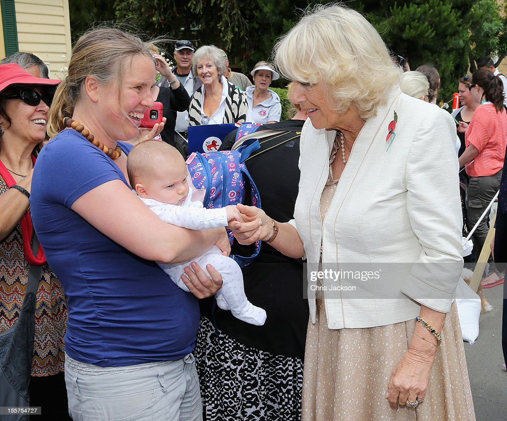 <a gi-track='captionPersonalityLinkClicked' href=/galleries/search?phrase=Camilla+-+Duchess+of+Cornwall&family=editorial&specificpeople=158157 ng-click='$event.stopPropagation()'>Camilla</a>, Duchess of Cornwall meets locals on a walkabout on November 8, 2012 in Richmond, Australia. The Royal couple are in Australia on the second leg of a Diamond Jubilee Tour taking in Papua New Guinea, Australia and New Zealand.