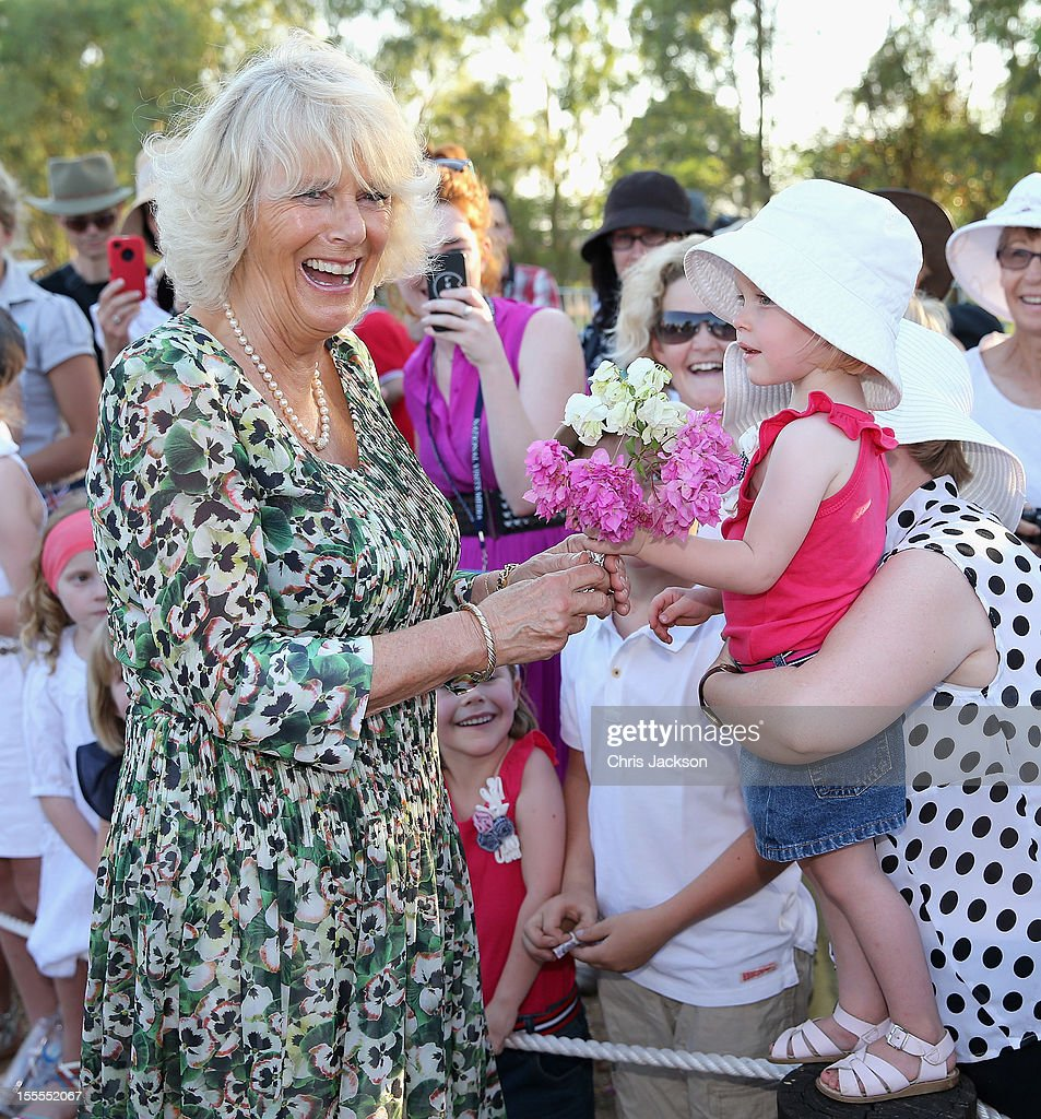 Camilla, Duchess of Cornwall meets members of the public after visiting the Cattle Rancher's Hall of Fame on November 5, 2012 in Longreach, Australia. The Royal couple are in Australia on the second leg of a Diamond Jubilee Tour taking in Papua New Guinea, Australia and New Zealand.