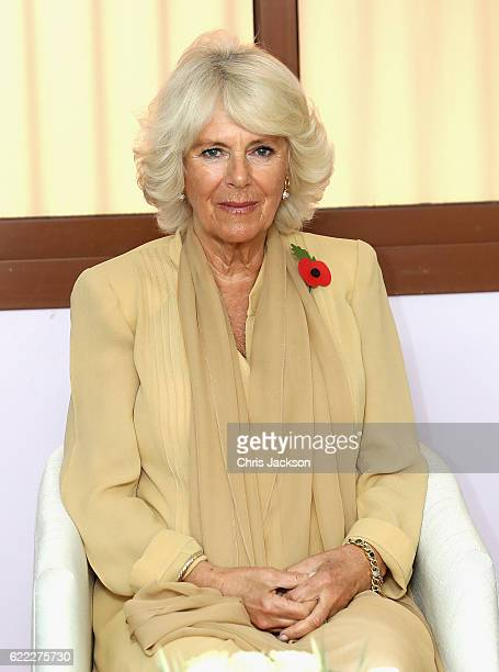 Camilla Duchess of Cornwall meets volunteers and staff at Dal Al Aman Woman's Refuge Centre on day 4 of a Royal tour of Bahrain on November 11 2016...