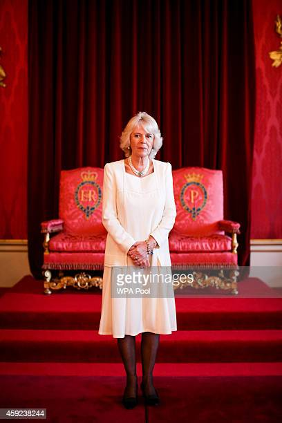 Camilla Duchess of Cornwall on behalf of Her Majesty the Queen Patron The Royal Commonwealth Society holds a reception for the winners and runners up...
