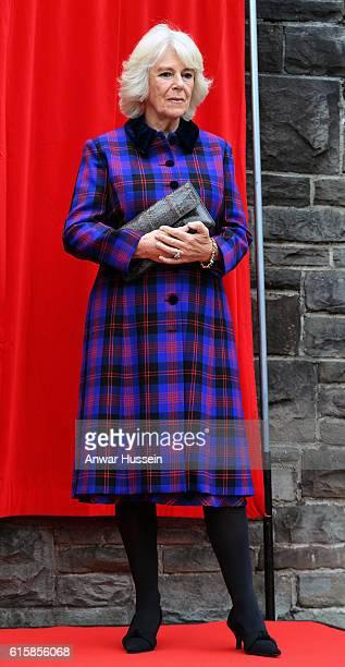 Camilla Duchess of Cornwall opens Sir Daniel Gooch Place at Swindon Railway Station on October 20 2016 in Swindon England