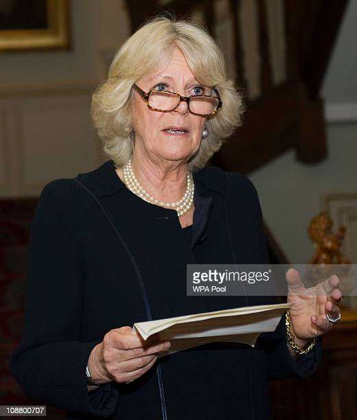 Camilla Duchess of Cornwall Patron National Literacy Trust hosted a reception for authors and organisations involved in promoting literacy and...