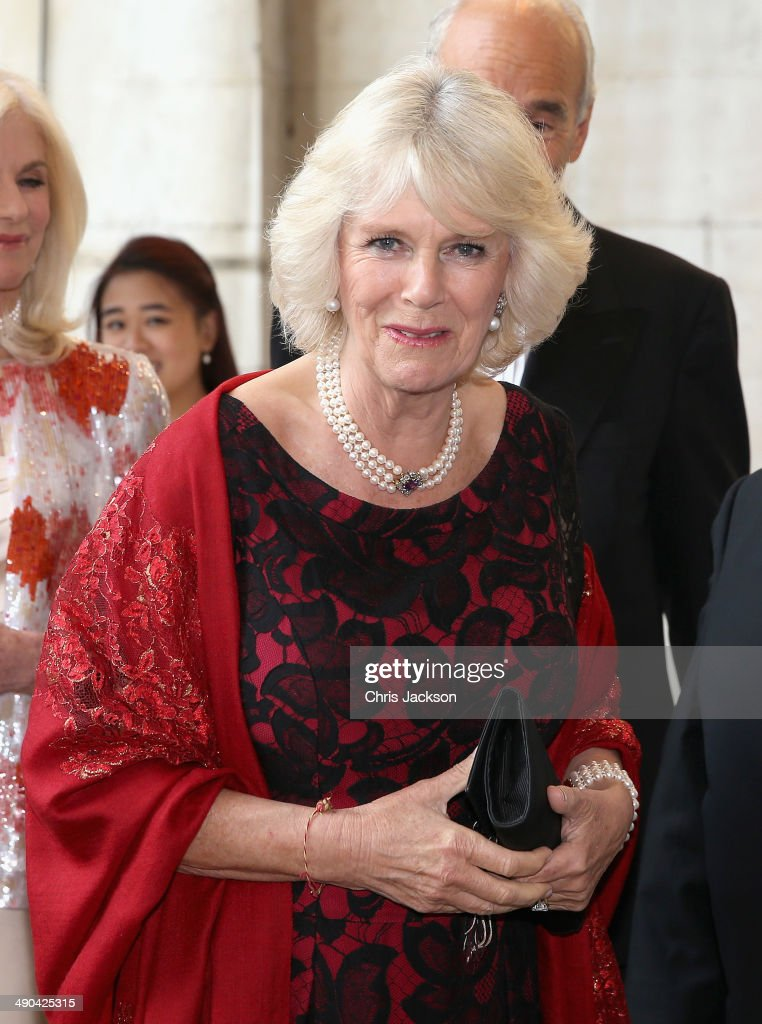 Camilla, Duchess of Cornwall, Patron St John's Smith Square, attends their 300th Anniversary Gala at St John's Smith Square on May 14, 2014 in London, England. The Gala concert included performances by soprano Rebecca Evans, counter tenor Christopher Ainslie, baritone Simon Keenlyside and organist David Titterington accompanied by the Early Opera Company directed by Christian Curnyn.