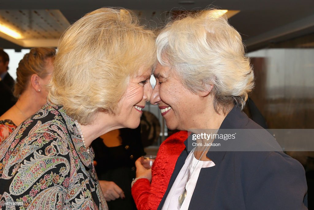 <a gi-track='captionPersonalityLinkClicked' href=/galleries/search?phrase=Camilla+-+Duchess+of+Cornwall&family=editorial&specificpeople=158157 ng-click='$event.stopPropagation()'>Camilla</a>, Duchess of Cornwall performs a traditional 'Hongi' Maori greeting as she meets Esther Kerr Jessop founder member of the Ngati Ranana London Maori Club as they celebrate success of New Zealand women in the UK on Waitangi day at New Zealand House on February 6, 2014 in London, England. Waitangi Day commemorates the signing of a treaty between 500 Maori Chiefs and the British Crown in 1840.