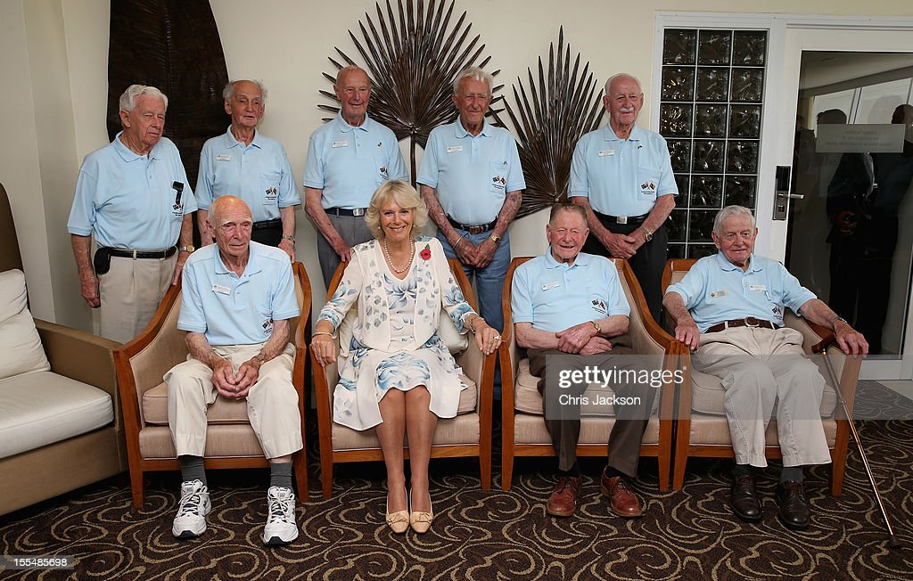 <a gi-track='captionPersonalityLinkClicked' href=/galleries/search?phrase=Camilla+-+Hertiginna+av+Cornwall&family=editorial&specificpeople=158157 ng-click='$event.stopPropagation()'>Camilla</a>, Duchess of Cornwall poses for a picture with Kokoda Campaign veterans during a reception for Kokoda Veterans on the 70th Anniversary of the Australian battle against to Japanese at the Airways Hotel on November 4, 2012 in Port Moresby, Papua New Guinea. The Royal couple are in Papua New Guinea on the first leg of a Diamond Jubilee Tour taking in Papua New Guinea, Australia and New Zealand.