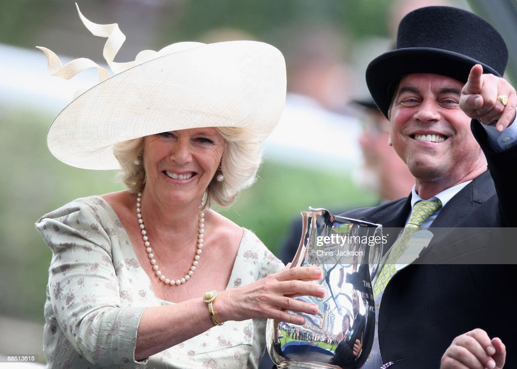 HRH Camilla, Duchess of Cornwall presents the winners cup to connections of Richard Hannon's Paco Boy winner of Queen Anne Stakes on the first day of Royal Ascot 2009 at Ascot Racecourse on June 16, 2009 in Ascot, England.