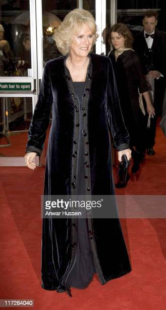 Camilla Duchess of Cornwall President of the National Osteoporosis Society attends the Royal Charity Premiere of These Foolish Things at the Odeon...