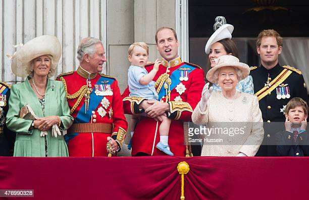 Camilla Duchess of Cornwall Prince Charles Prince of Wales Prince George of Cambridge Prince William Duke of Cambridge Catherine Duchess of Cambridge...