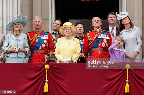 Camilla Duchess of Cornwall Prince Charles Prince of Wales Prince Edward Earl of Wessex Queen Elizabeth II Princess Anne The Princess Royal Prince...