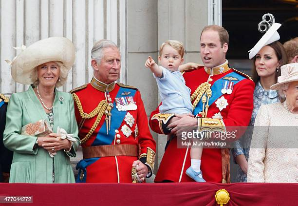 Camilla Duchess of Cornwall Prince Charles Prince of Wales Prince William Duke of Cambridge Prince George of Cambridge and Catherine Duchess of...